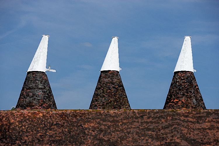 Oast House Cowls Hanging in ABode Hotel Canterbury