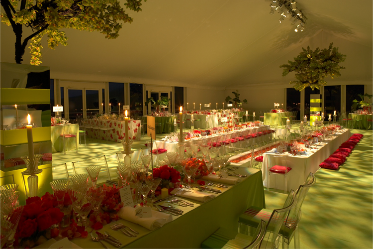 Interior of Peppers Marquee  for Party in Yorkshire Dales, courtesy of Admirable Crichton