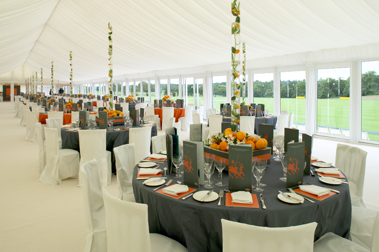 Interior of Peppers Marquee for Polo match
