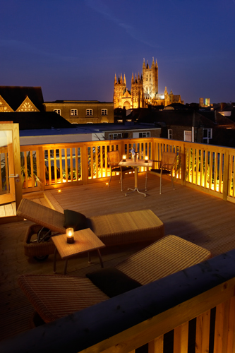 Fabulous Room Decking at the Abode Hotel Canterbury