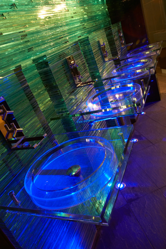 Glass washbasins Religion Bar Leeds