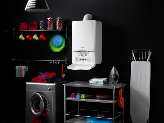 Ideal Espirit Boiler in domestic utility room set